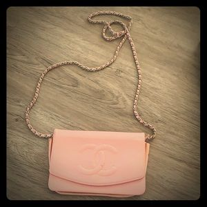 Chanel Wallet-On-chain caviar pink flap bag